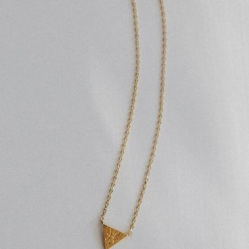 Zodiac Charm Necklace In Gold - Pisces