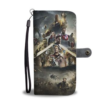 KUYOU Marvel Heroes Avengers Infinity War Wallet Phone Case