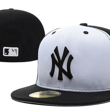 ESBON New York Yankees New Era MLB Authentic Collection 59FIFTY Caps Black-Red