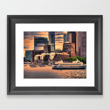 Massachusetts at Sunset Framed Art Print by lanjee