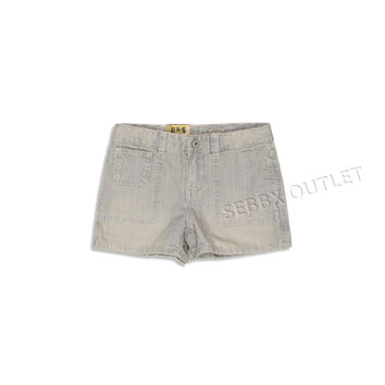 Ralph Lauren Shorts Railroad Wash Blue Faded Striped