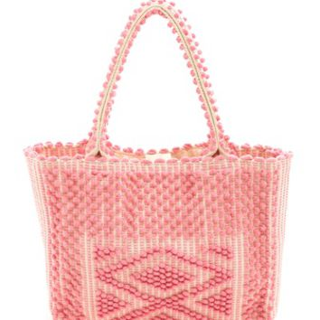 Antonello Diamond Motif Small Tote