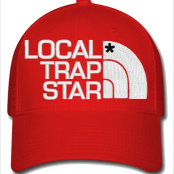 local trap embroidery hat - Flexfit from teesgames  7b6cc1cfb7d
