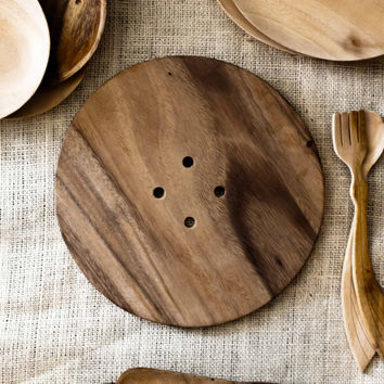Unfinished Wood Plate - Eco Friendly Decor- Home Decor - Centerpiece Plate