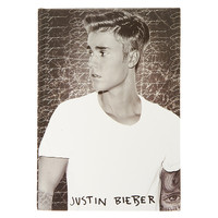 Justin Bieber Black and White Purpose Notebook