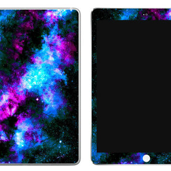 Bluedust Something Blue Galaxy iPad Decal Skin iPad decal sticker iPad Cover Universe Stars Milky Way Nebula Starfield Blue Purple