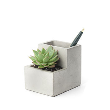 Kikkerland Design Inc » Products » Concrete Small Planter And Pen Holder