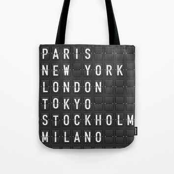 Paris, New York, London, Tokyo, Stockholm, Milano Tote Bag by Printapix