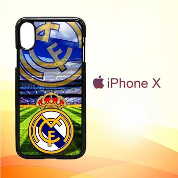 Real Madrid logo Z3077 iPhone X Case