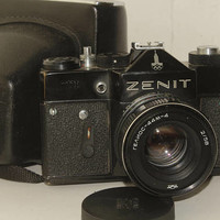 ZENIT TTL. Olympic. Soviet 35mm. SLR film camera. Helios-44M-4 lens 2/58mm