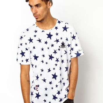 Vivienne Westwood Anglomania T-Shirt All Over Stars Print