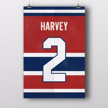 Doug Harvey Number 2 Jersey