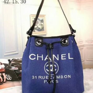 CHANEL Women Shopping Handbag A-BB-PFLS BLUE