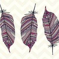 AZTEC FEATHERS Art Print by Monika Strigel