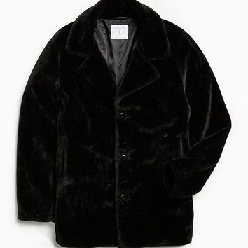 UO Faux Fur Top Coat | Urban Outfitters