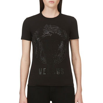 Versus Black Studded Logo T-shirt