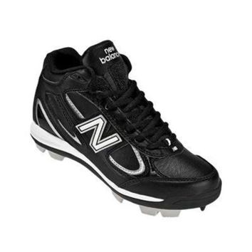 CREYONV new balance yb403 youth mid molded cleats black