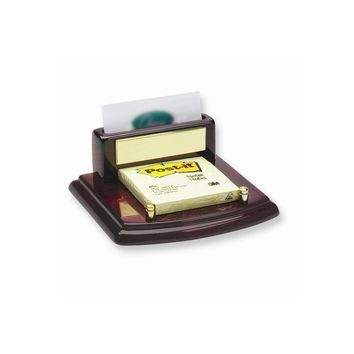 Business Card & Post It Holder - Engravable Personalized Gift Item