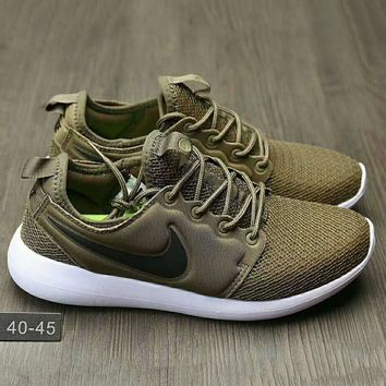 NIKE Roshe Run Women Casual Sport Shoes Sneakers Army green G-HAOXIE-ADXJ