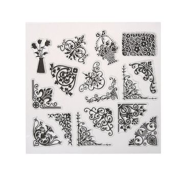 DIY Scrapbooking Lace Flower Transparent Clear Stamp Seals for Photo Album Diary Card Making Decoration Supplies
