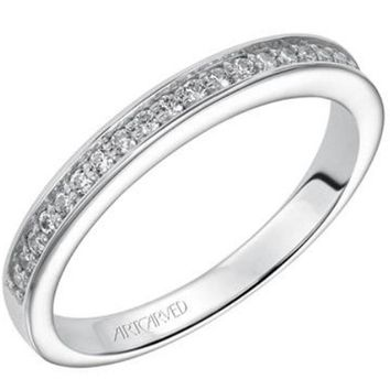 "Artcarved ""Leah"" Channel Set Diamond Wedding Band"