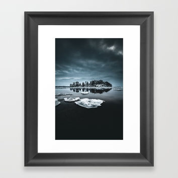 Only pieces left Framed Art Print by happymelvin