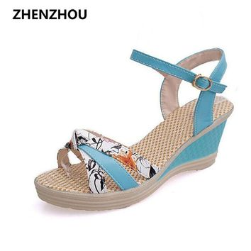 Women's shoes  2017 Summer style Women sandals wedge female sandals high platform wedges platform open toe platform casual shoes