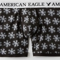 AEO Men's Snowflake Athletic Trunk (Black)