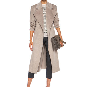 Win Double Face Cashmere Coat in Beige Chine