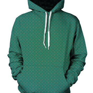 Psychedelic Green Fade Pattern Hoodie