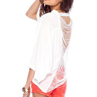 Hold the Fringes Button Down Shirt in White :: tobi