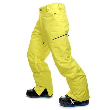DKF4S GSOU SNOW High Quality Men Ski Pants Snowboarding Colorful Warm Waterproof Windproof Breathable Skiing Pants