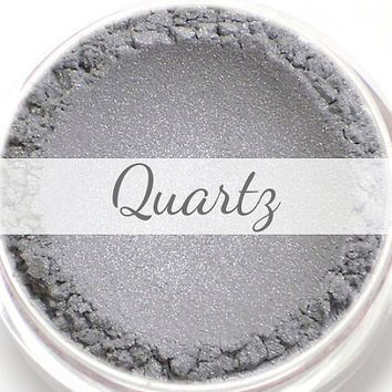 "Eyeshadow Sample - ""Quartz"" - light silver gray with lavender shimmer (Vegan) Mineral Makeup Eye Color Pigment"