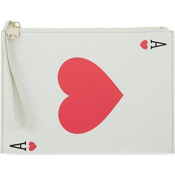 KATE SPADE - Ace of Hearts wristlet clutch | Selfridges.com