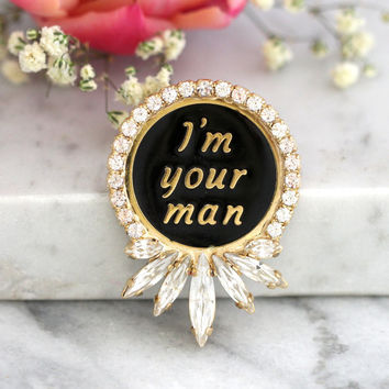 Groom Gift, Groom Pin, Man for Jewelry, Lapel Pin, Enamel Pin, Gift For Him, Jacket Pin, Word Jewelry, Christmas Gift, Groom boutonniere