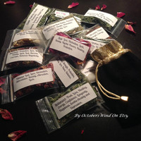 Magickal Herbs Sampler Kit By Octobers Wind Organic Dried Herbs
