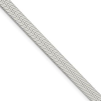 5.25mm, Sterling Silver Solid Herringbone Chain Necklace