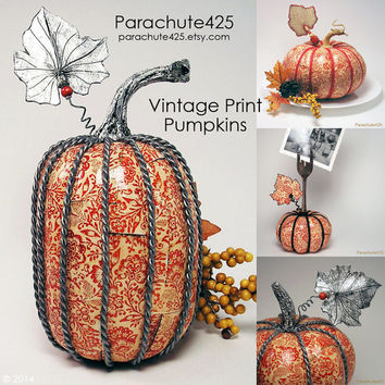 Vintage Orange Print Pumpkins from Parachute425