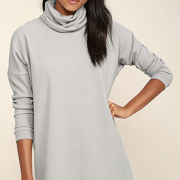 Scheme of Things Grey Long Sleeve Dress