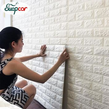 Self adhesive Waterproof TV Background Brick Wallpapers 3D Wall Sticker Living Room Wallpaper Mural Bedroom Decorative Stickers