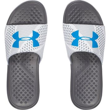 Under Armour Men's UA Strike Micro Geo Slide Sandals