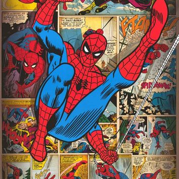 Spider-Man Comic Book Panels Poster 24x36