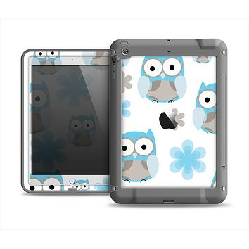 The Subtle Blue Cartoon Owls Apple iPad Air LifeProof Fre Case Skin Set