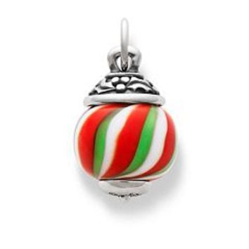 Holly Finial with Candy Cane Charm | James Avery