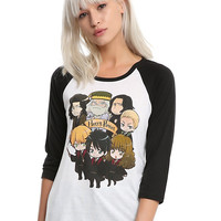 Harry Potter Chibi Characters Girls Raglan