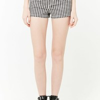 Gingham Denim Shorts