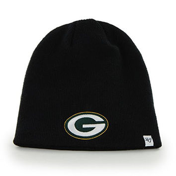 NFL Green Bay Packers '47 Beanie Knit Hat, Black, One Size