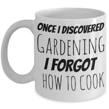 Gardening Cooking Mug White Coffee Cup For Holidays 2017 2018 Gifts For Him Her Family Grandparent Grandma Granddad Wive Husband Couples Funny Sayings Holiday Tea Coffee Mugs Cups For Gardeners & Cooks