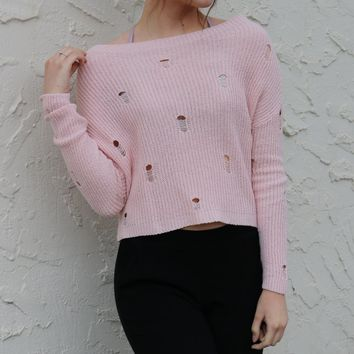 Our Crew Sweater - Ballet Rose by Dex