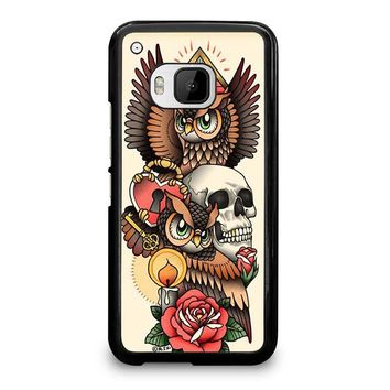 OWL STEAMPUNK ILLUMINATI TATTOO HTC One M9 Case Cover